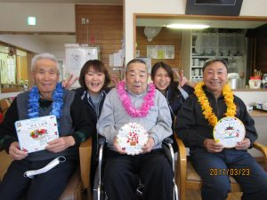 誕生会で手作り桜餅