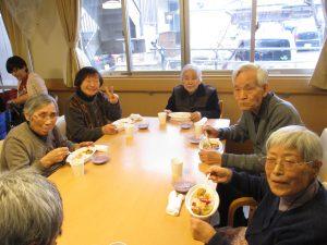 昼食会  【デイサービスセンター七瀬・グループホームまゆ・七瀬の杜】