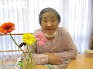 お花をいただきました♪【デイサービスセンター七瀬】