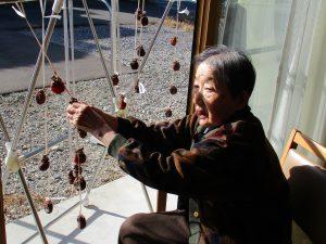 みんなで作った干し柿🍁完成('ω')ノ~まゆ松代~